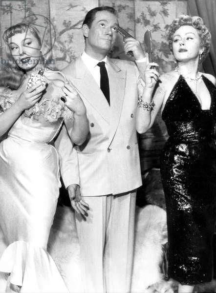 Les femmes s'en balancent de BernardBorderie avec Eddie Eddy Constantine Dominique Wilms (g) et Nadia Gray (d) 1953 menage a trois