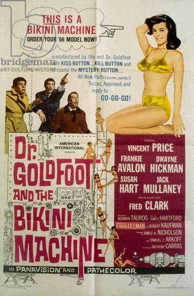Dr. Goldfoot and the Bikini Machine de Norman Taurog avec Vincent Price 1965