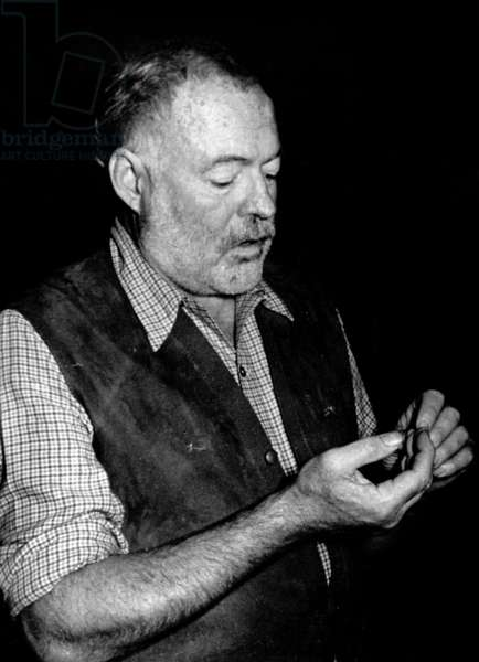 American writer Ernest Hemingway (1899-1961) in Madrid May 18, 1954