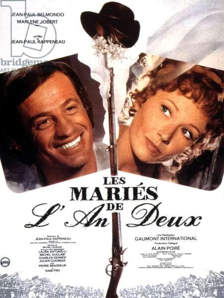 Affiche du film Les maries de l'an deux de JeanPaulRappeneau avec Jean Paul Belmondo et Marlene Jobert 1971