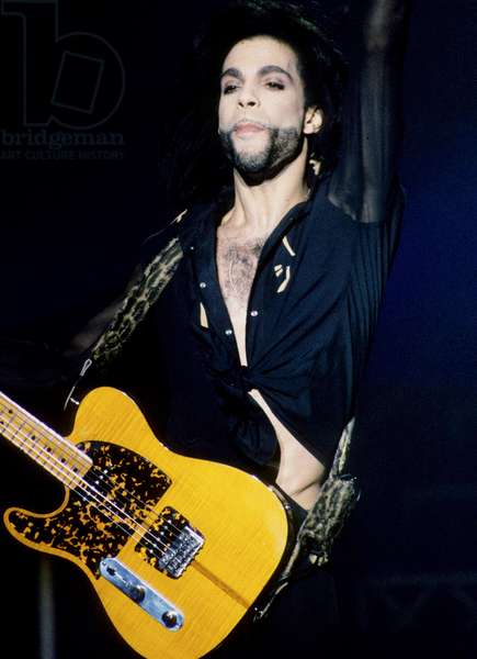 American Singer Prince (Prince Rogers Nelson) in concert in August 1990