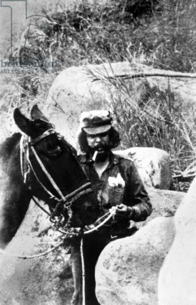 Ernesto Che Guevara, cuban revolutionary leader, during Bolivia campaign in September 1967