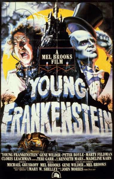 YOUNG FRANKENSTEIN (Frankenstein Junior) de MelBrooks avec Gene Wilder, Peter Boyle, Marty Feldman, 1974