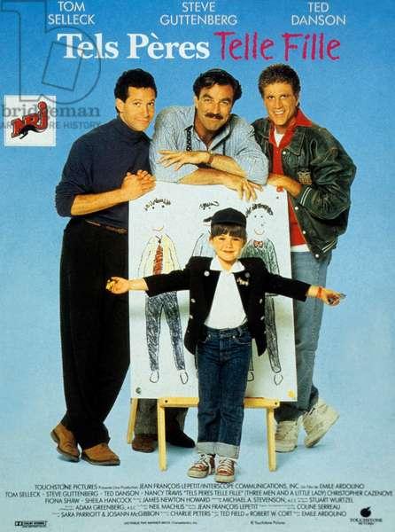 Tels peres telle fille Three men and a little lady de EmileArdolino avec Tom Selleck Steve Guttenberg et Ted Danson 1990