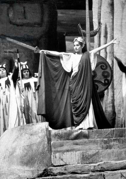 Maria Callas as Norma in opera by VincenzoBellini in Rome, 1958