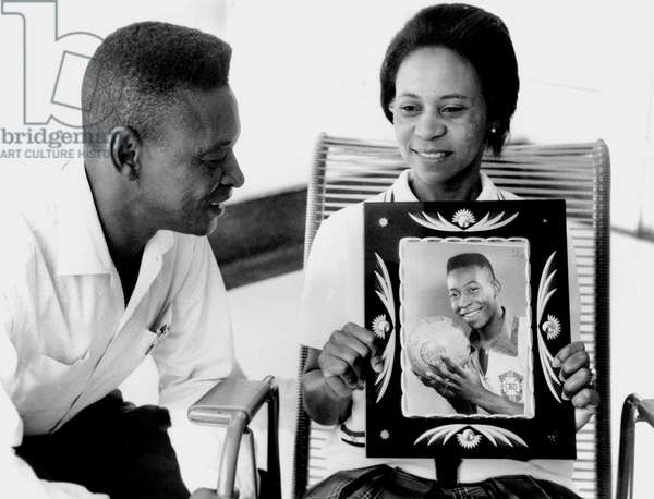parents of famous brazilian footballer Pele 1964