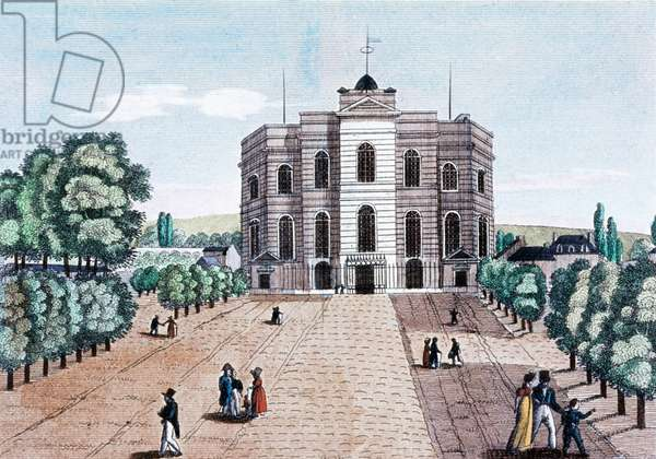 The observatory of Paris, built in 1667 by Claude Perrault, engraving, c. 1800