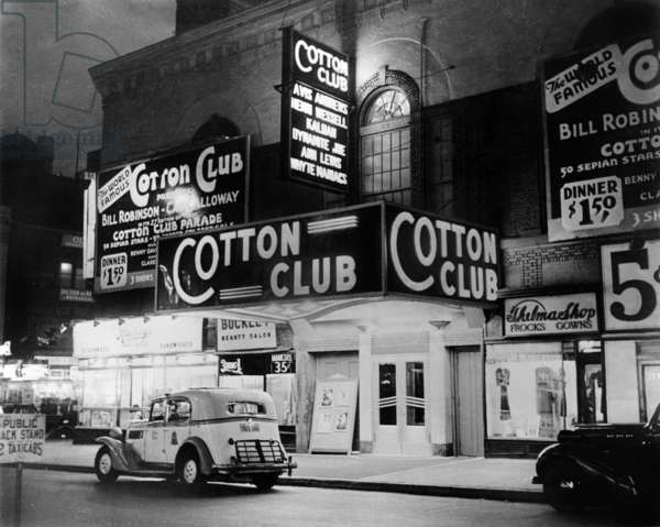 The Cotton Club in Harlem, New York, in 1938 (b/w photo)