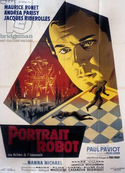 Portrait Robot de Paul Paviot avec Maurice Ronet 1962