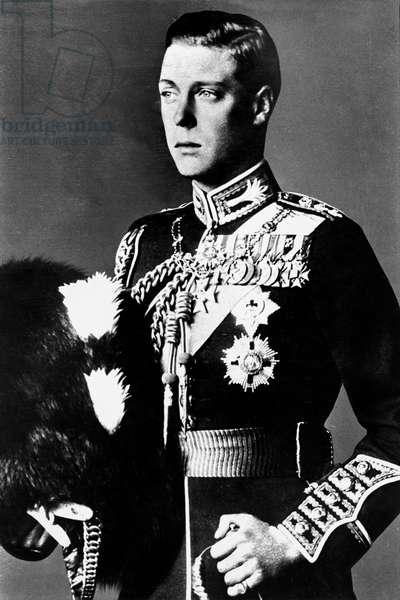 Edward of England (1894-1972) King  Edward VIII in 1936 then Duke of Windsor here young wearing uniform