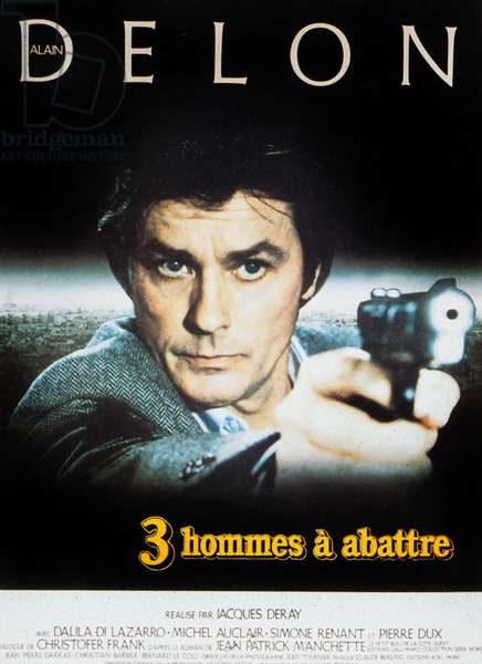 Poster for the Movie Trois hommes a abattre by Jacques Deray with Alain Delon 1980