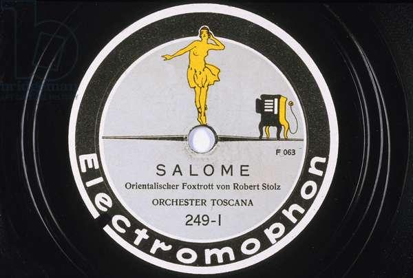 Disque vinyl : Salome Foxtrott oriental de Robert Stolz Orchestre Toscana NÁ 249- L electromophon record