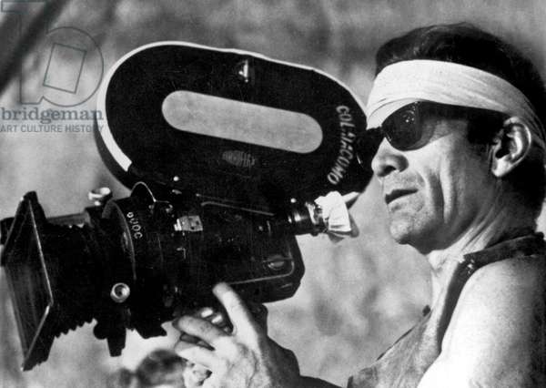 Italian director Pier Paolo Pasolini on set of film Canterbury Tales 1972