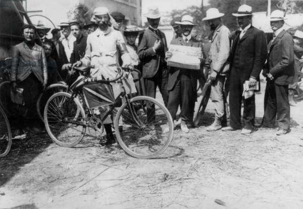 Belgian cyclist Marcel Kerff during 1st Tour de France, 1903