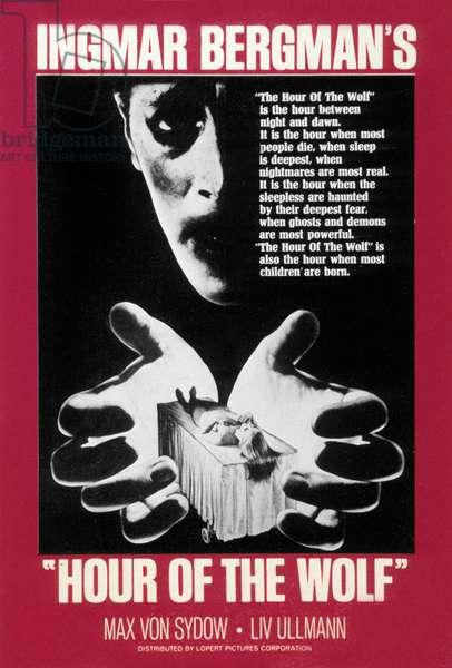 Affiche du film L'heure du loup Hour of the wolf (Vargtimmen) de IngmarBergman avec Max Von Sydow 1968