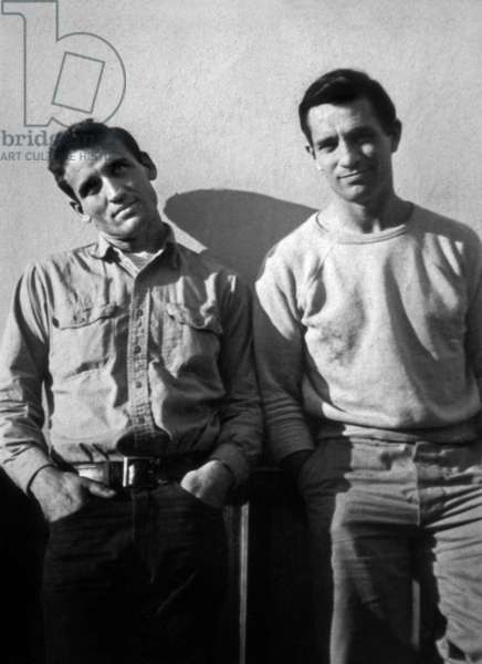American writer Jack Kerouac (1922-1969) and Neil Cassady in 1952 photo taken by Carolyn Cassady