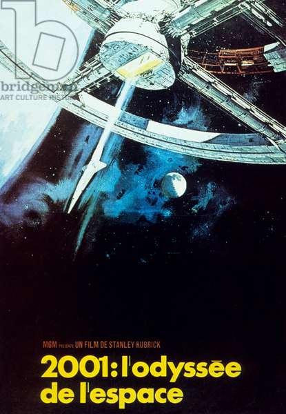 Affiche du film 2001: L'odyssee de l'espace (2001: A space odyssey) de StanleyKubrick 1968