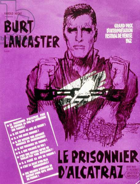 Le Prisonnier d'Alcatraz BIRDMAN OF ALCATRAZ de John Frankenheimer avec Burt Lancaster, 1962