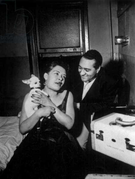jazz and blues Singer Billie Holiday (1915-1959) and Ralph Casper, 40's