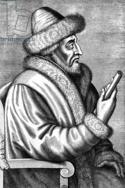 Ivan IV Vasilevich called Ivan the Terrible (1530-1584) russian Czar , engraving