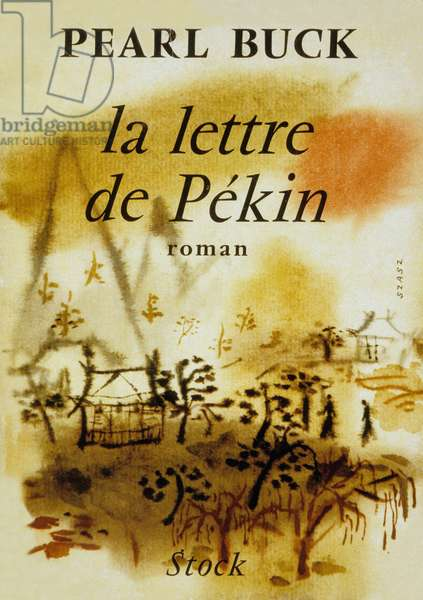 "Cover of a French edition of book ""Letter from Peking"" by Pearl Buck, 1958"
