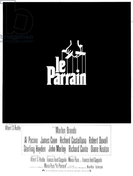 Affiche du film Le Parrain (The Godfather) de FrancisFordCoppola avec Marlon Brando, 1972