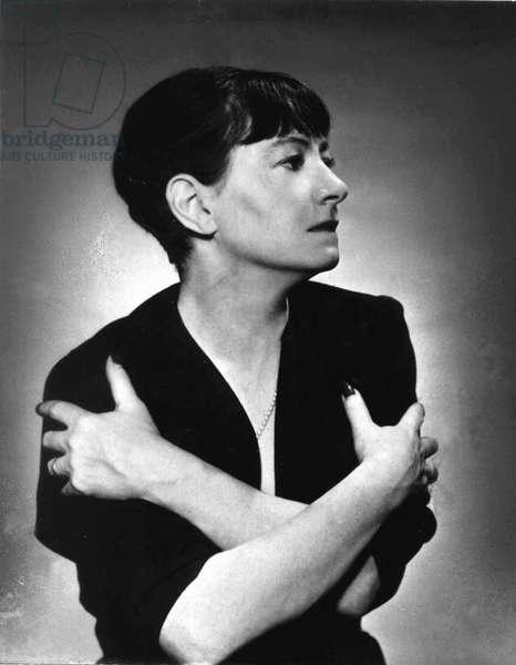 Dorothy Parker (1893-1967) American poet c. 1945