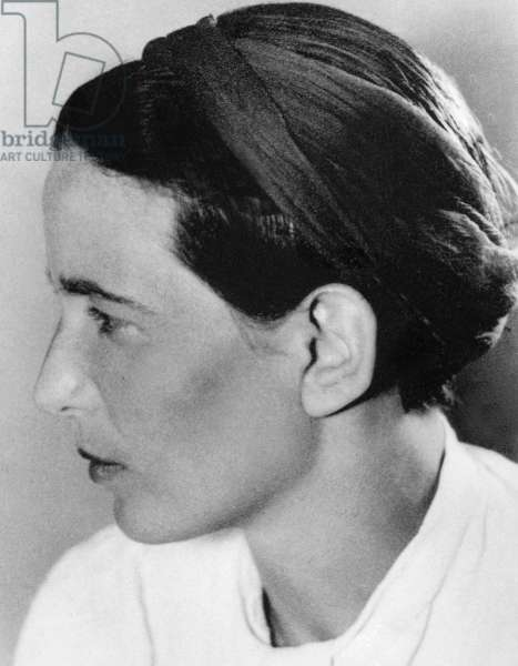 Simone de Beauvoir (1908-1986) French writer and feminist 1945