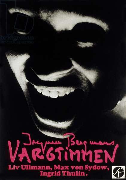 Affiche du film L'heure du loup Vargtimmen de IngmarBergman avec Max von Sydow 1968