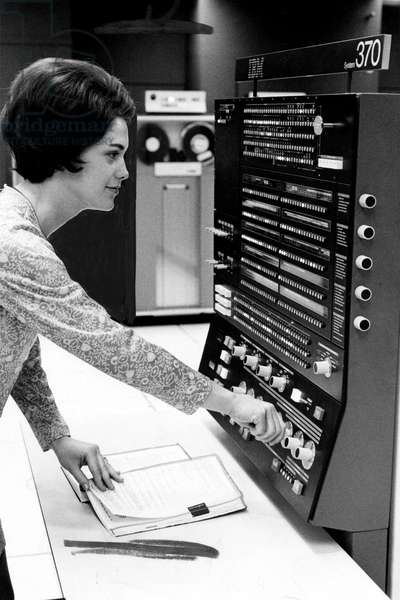 Computer IBM 370 c. 1970