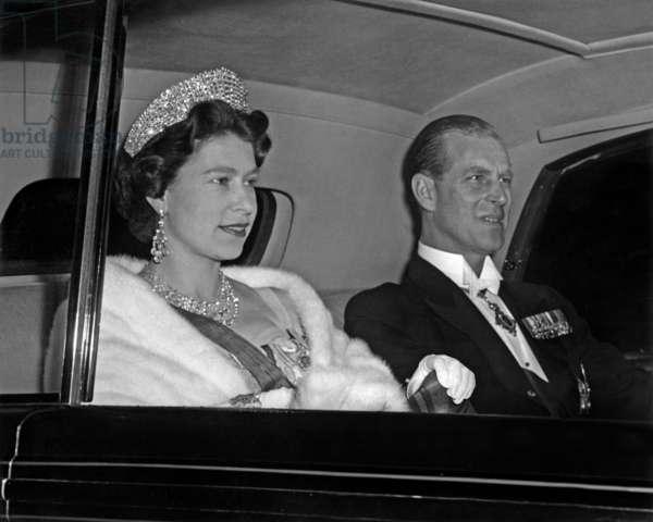 Queen Elizabeth II of England and the Duke of Edinburgh