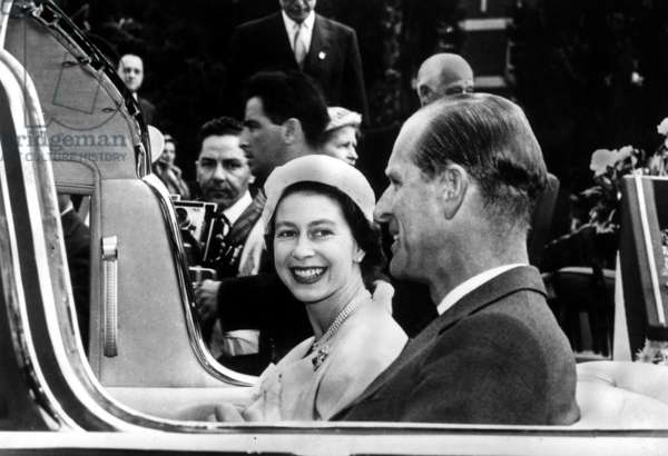 Queen Elizabeth II and the Duke of Edinburgh in 1959