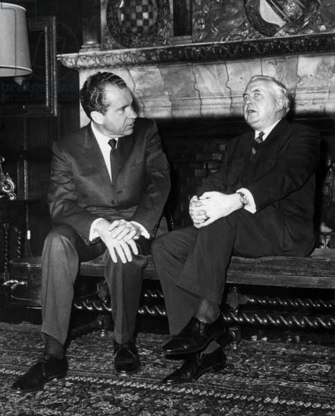 Mr Richard Nixon et Harold Wilson