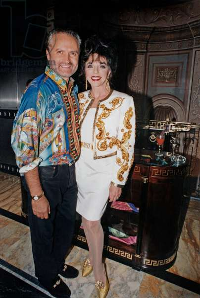 Joan Collins and Gianni Versace, London, 1992 (photo)