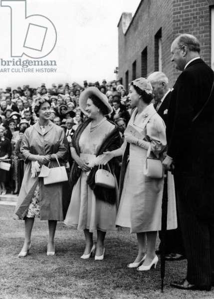 Queen Elizabeth II, Queen Mother and Margaret in 1958