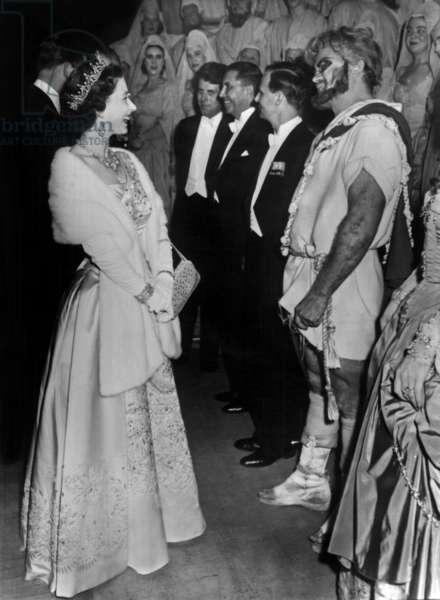 Queen Elizabeth II of England and John Vickers