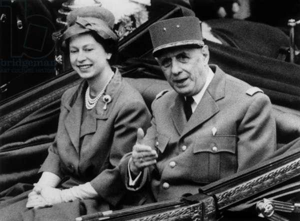 De Gaulle et Elizabeth II