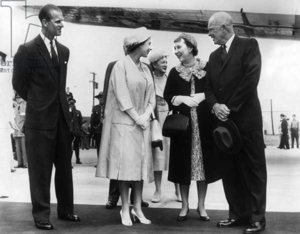 Elizabeth II of England and Eisenhower