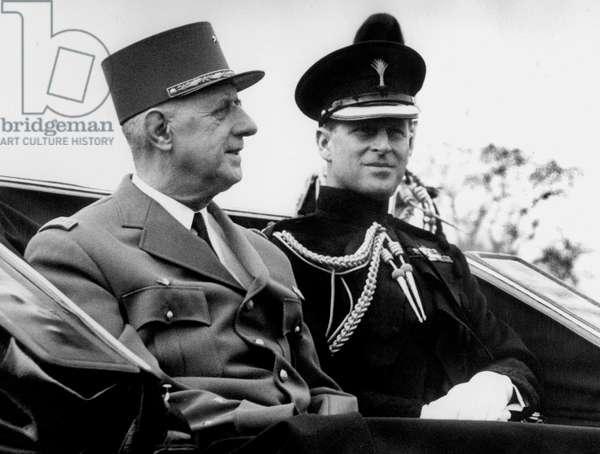 Charles de Gaulle and the Duke of Edinburgh