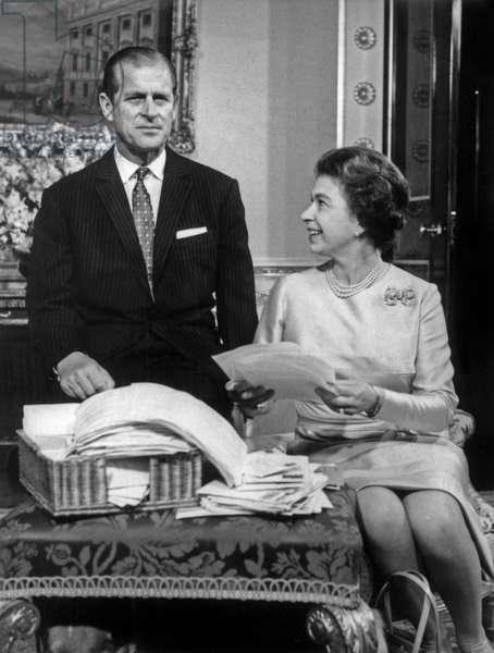 Elizabeth II of England and the Duke of Edinburgh