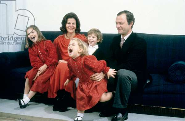 Charles Gustave and Silvia Suede as a family