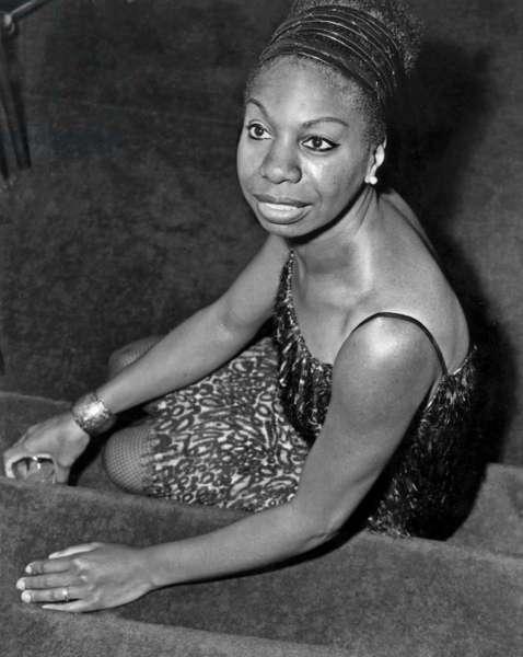 Nina Simone. London, 1967 (b/w photo)