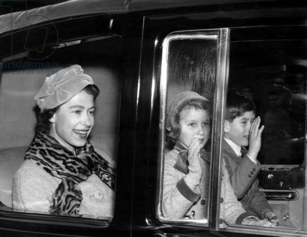 Queen Elizabeth II and Her Children, 1958