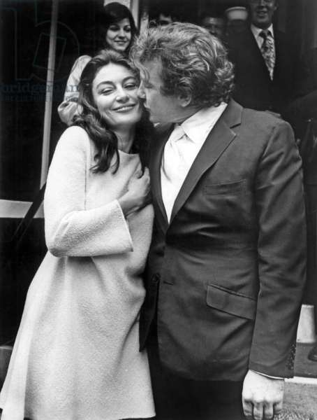 Marriage of Anouk Aimee and Albert Finney
