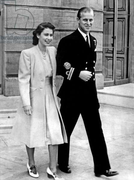 Elizabeth of England and Philippe Mountbatten