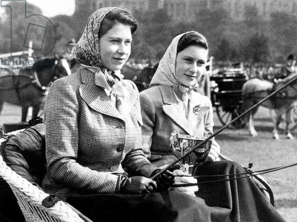 Princess Elizabeth and Margaret of England