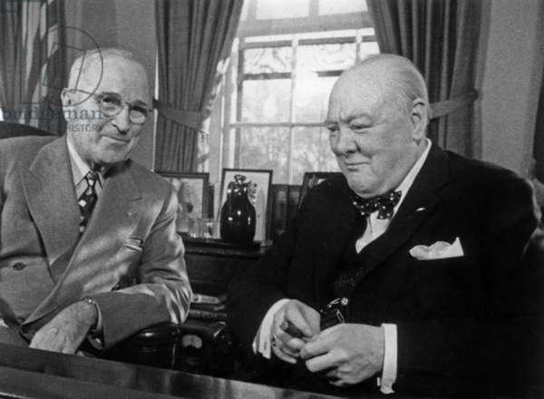 Harry Truman et Winston Churchill