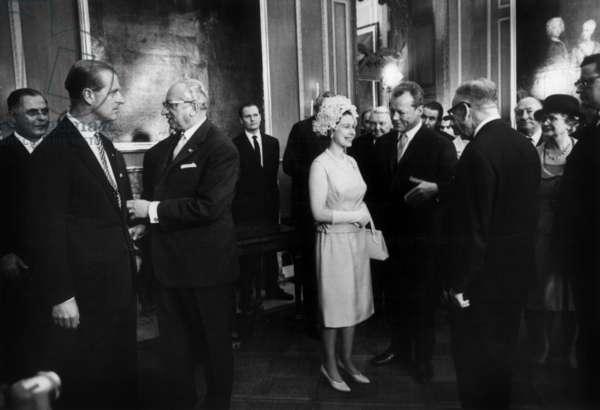 Queen Elizabeth II of England and Willy Brandt