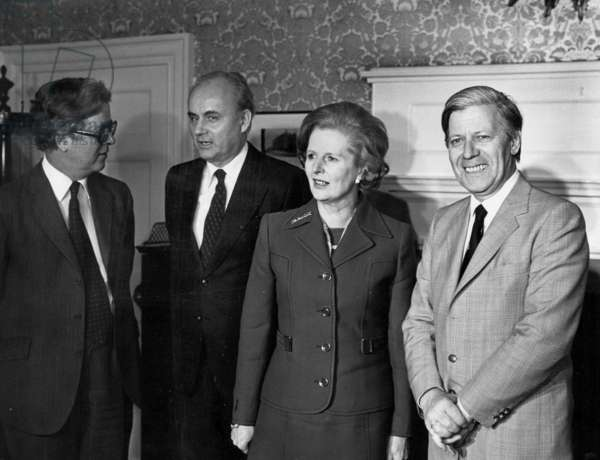 Margaret Thatcher et Helmut Schmidt, May 10 1979