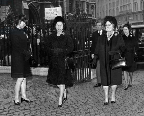 Queen Elizabeth II, Queen Mother, Princess Anne and Princess Margaret, 1968